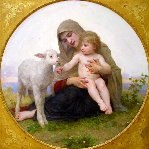 The Virgin Lamb, William-Adolphe Bouguereau